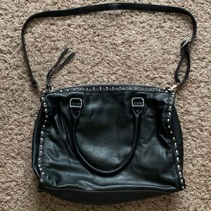 Forever21 Studded Bag - Black